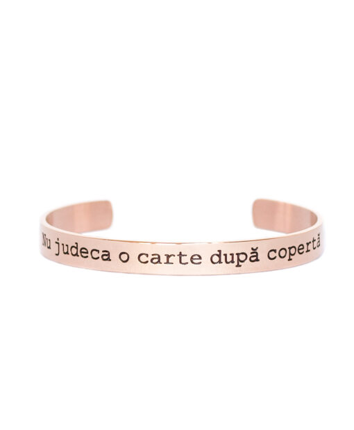 Flash Jewels Mood Bracekets Nu judeca o carte dupa coperta