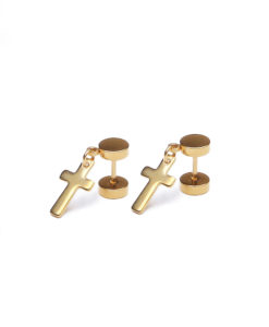 Rebel Basics auriu Flash Jewels Cross earring